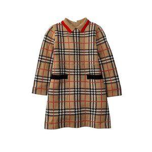 Burberry Vintage Check Jacquard Wool Dress Kids